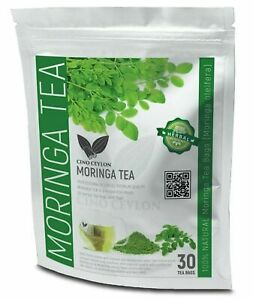 Moringa Oleifera Detox Herbal 30 Tea Bags Lower Cholesterol /Blood Sugar Antioxi