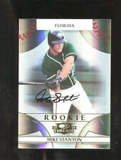 Mike Giancarlo Stanton Marlins 2008 Donruss Threads #144 Auto Rookie Card rC