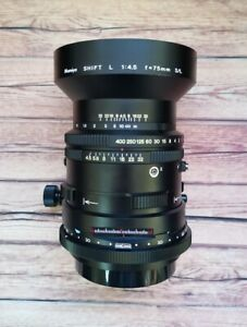 Mamiya SHIFT L 75mm f4.5 S/L SL Lens for RB67 PRO SD