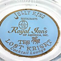 Vintage Royal Inns / Jolly King Restaurant / Lost Knight Lounge Glass Ashtray
