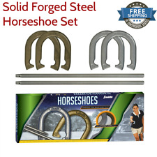 Recreational Horseshoe Horse Shoe Game Set Sports Steel Outdoor Toss Competion Y