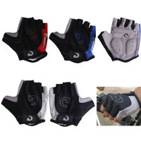 Men Cycling Hand Gloves Half Finger Biking Hand Protector with Anti Slip Gel Pad