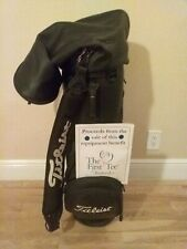 Titleist Staff Leather Cart Golf Bag 6-way dividers & rain cover