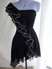 NEW Little Mistress - Black One Strap Party Short Mini Dress - Size 8 Euro 36