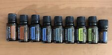 9 EMPTY doTERRA essential oil bottles 15ml Frankincense Lemongrass Deep Blue