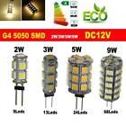 G4 2W/3W/5W/9W LED 5050 SMD LED Coche Barco Lámpara Bombilla Blanco/Cálido DC12V