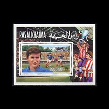 Ras Al Khaima, Bl132A, Mnh,1972, S/S, Soccer, World Cup, Andre Choroa, 1218.