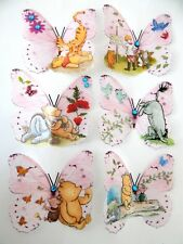 6 Winnie the Pooh bedroom decor 3d wall butterflies,wall stickers hand crafted