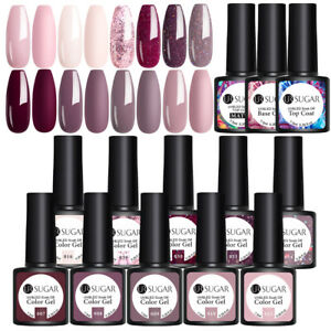 UR SUGAR 7.5ml Nagel Gellack Soak off Gel Polish Top Base Matte Coat Gellack Kit