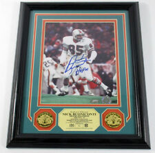 Nick Buoniconti Signed Photo Display 2 Coins Highland Mint Framed Auto DF025638