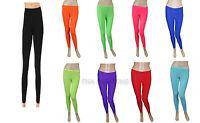 Children's Kids Girls Footless Lycra Neon Colors Leggings Dance Legging 5-12 Yrs