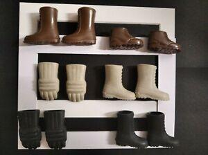 Big Jim lotto scarpe e guanti. Vintage Mattel Stivali, Camper, Gloves Mattel