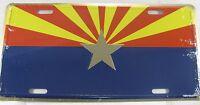 ARIZONA FLAG METAL LICENSE PLATE AZ STATE SIGN L216