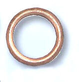 Copper Sump Washer, Crushable Citreon Peugeot, ,16mm x 22mm x 2mm Qty 4