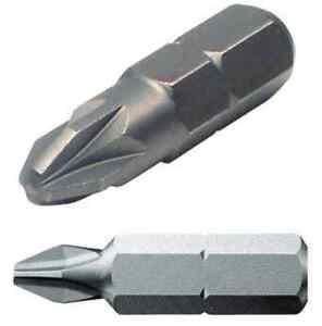 NEW Phillips Pozi Pozidrive screwdriver 25mm bit.PZ1,PZ2,PZ3,PH0,PH1,PH2,PH3