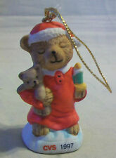 CHRISTMAS BABY BEAR WITH BEAR & BOTTLE HANGING ORNAMENT from CVS PHARMACY 1997