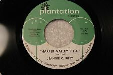 "JEANNIE C. RILEY 45rpm ""Harper Valley PTA"" Plantation Records Nashville, TN"