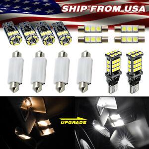 For GMC Sierra 2007-2013 2014-on WHITE LED Interior Light Kit Trunk 14 Bulbs
