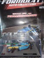 RENAULT R24 2004 FERNANDO ALONSO FORMULA 1 AUTO C. 1:43  #165 MIB DIE-CAST