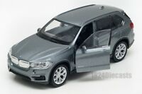 BMW X5 grey, Welly scale 1:34-39, model toy car gift
