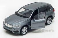 BMW X5 grey, Welly scale 1:34-39, model toy car gift