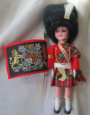 """Vintage Queen'S Guard Scots Guard Sentry Buckingham Palace Doll 6 1/2 """" tall"""