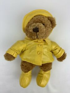 "Paddington Bear Plush 11"" Yottoy P & Co Blue Raincoat Red Hat Yellow Boots 2005"