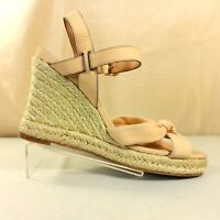 Cole Haan D34128 Platform Rope Wedge Strappy Slingback High Heel Sandal Size 6B