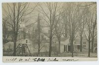 RPPC Backyards in ADDISON NY Vintage Steuben County New York Real Photo Postcard