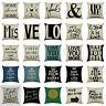 Romantic postive words Pillow Case Cotton Linen sofa Cushion Cover Home Decor A