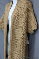 Coldwater Creek Chunky Knit Wool Blend Cardigan Sweater Open Front Plus Sz1x NWT