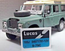 Repro Coche Clásico Lucas 10SJ Pantalla Bomba de Lavado Pegatina Land Rover