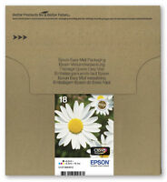 Genuine Epson 18 Daisy Claria Multipack Ink jet Print Cartridges, T1806 T180645
