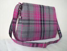 Pink & Grey Tartan Messenger bag Cross body Bag Shoulder bag handmade Scotland