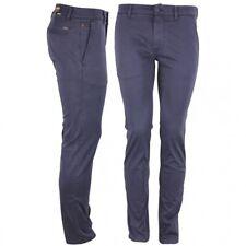 Hugo Boss señores chino pantalones azul marino monocromo 50379152 402