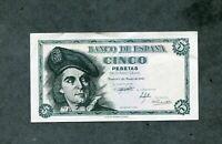 BILLETE 5 PESETAS 1948 SERIE F08178512 SC el billete de la foto