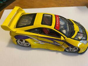 Kentoys diecast yellow 1/24 Toyota Celica car