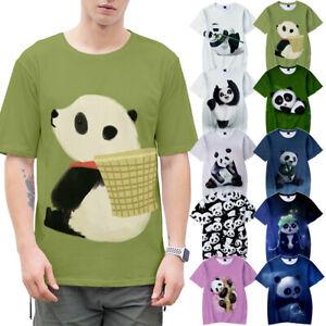 10 Styles Cute Men's Pandemic Panda T-Shirt Novelty Tee Women's Top 3D Printing