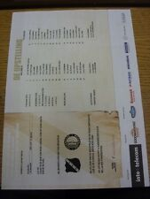 09/12/2012 Colour Teamsheet: NAC Breda v Feyenoord  (Fold). Thanks for viewing o