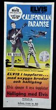 ELVIS PRESLEY ORIGINAL FILMPLAKAT SEEMANN AHOI 1967 Easy come - Easy Go RARITÄT