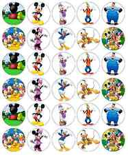30 x Mickey Mouse Clubhouse Cupcake Toppers Edible Wafer Paper Fairy Cake Topper
