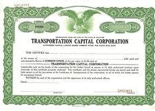 Transportation Capital Corporation Common Stock Certificate, Specimen