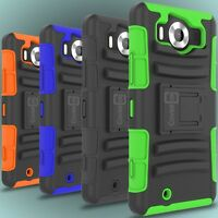 Belt Clip Holster Cover Kickstand Hybrid Phone Case for Microsoft Lumia 950