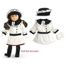 "American Girl SAMANTHA FANCY COAT SET for 18"" Dolls Samantha's Clothes White NEW"