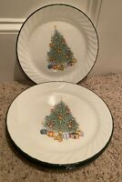 "Corning Corelle HOLIDAY MAGIC 10 1/4"" Dinner Plates Set of 6  BARELY USED!!"