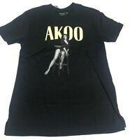 AKOO MENS S/S  T-Shirt Size  LARGE 100% AUTHENTIC akoo GIRL sitting o. The chair