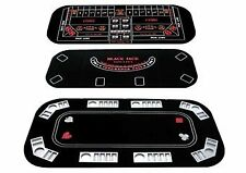 NEW 3 in 1 Texas Holdem Table Top Poker Craps Blackjack FREE SHIPPING