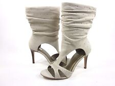 REPORT WOMEN'S CHRISTIAN MID-CALF FASHION LEATHER BOOTS,LIGHT SAND, US SIZE 9