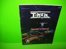 Atari T-MEK 1994 Original Video Arcade Game Service Repair Operators Manual