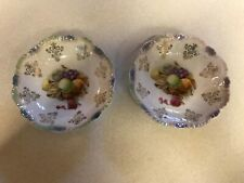 Vintage Royal Munich Bavaria Apples and Berries Hand Painted Bowls